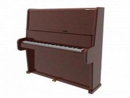 Broadwood upright piano 3d model