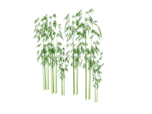 Clustered Bamboo 3d Model 3dsmax Files Free Download