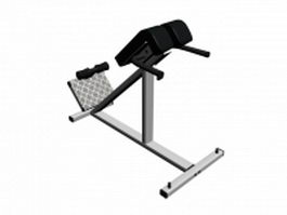 Weight lifting decline bench press 3d model