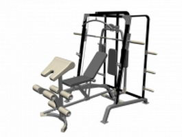 Multi-purpose gym training machine 3d model