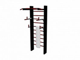Gym wall bars 3d model