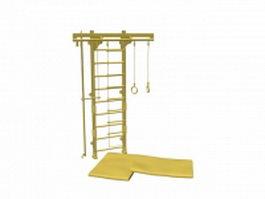 Gymnastics wall bars 3d model