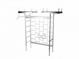 Metal wall bars 3d model