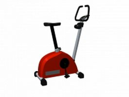 Stationary exercise bicycle 3d model