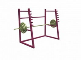 Barbell stand squat rack 3d model