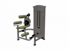 Seated row cable machine 3d model