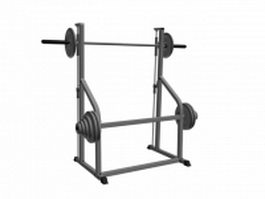 Squat exercise smith machine 3d model