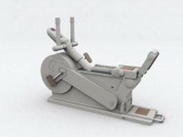 Orbital elliptical trainer 3d model