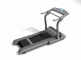 Motorized treadmill 3d preview