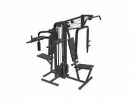 Multifunction pull down machine 3d model