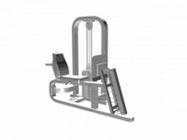 Seated rowing machine 3d model
