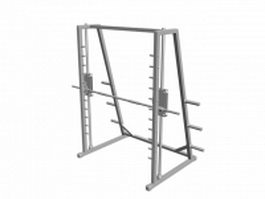 Smith machine gym 3d model