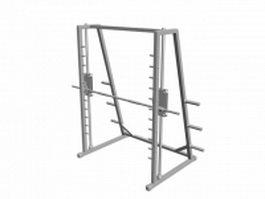 Smith machine gym 3d model