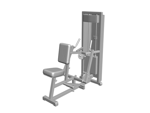 Seated Low Row Machine 3d Model 3ds Files Free Download
