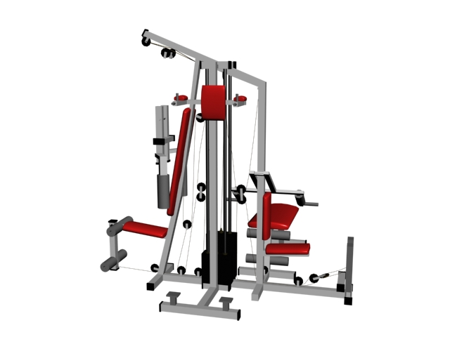 Multi Gym Equipment Cable Machine 3d Model 3ds Files Free