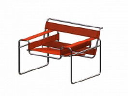 Wassily chair by Marcel Breuer 3d model