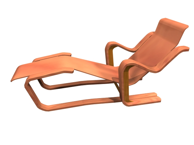 Chaise lounge by marcel breuer 3d model 3dsmax files free for Breuer chaise lounge