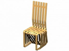 High sticking chair by Frank Gehry 3d model