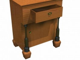 Biedermeier bedside table 3d model