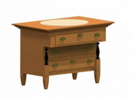 Biedermeier bedroom commode 3d model