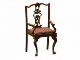 Chippendale cabriole leg chair 3d model