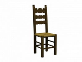 Classical folk chair 3d model