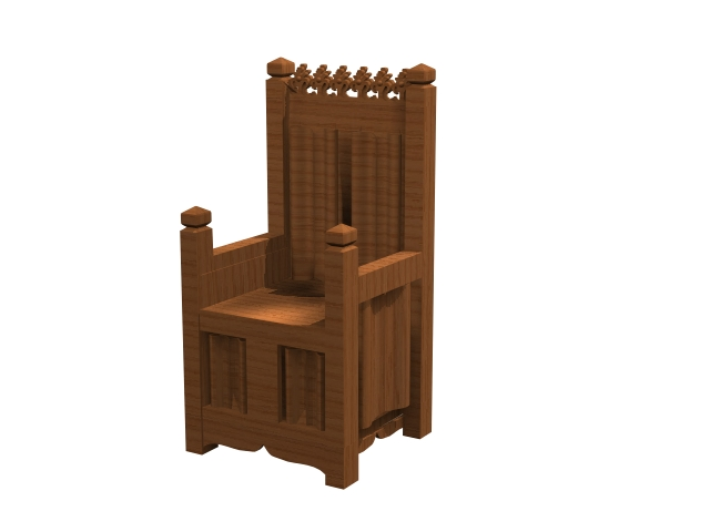 Medieval Period Throne Chair 3d Model 3dsmax Files Free