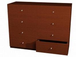 Wood sideboard chiffonier 3d model
