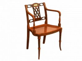 Sheraton style fauteuil chair 3d model