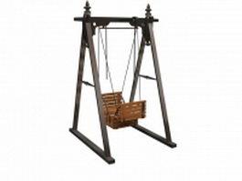 Garden swing seat 3d model