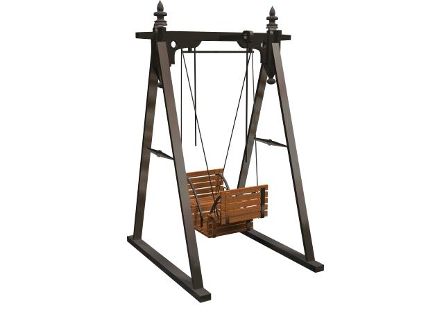 Garden swing seat 3d model - CadNav