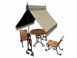 Garden furniture set 3d model