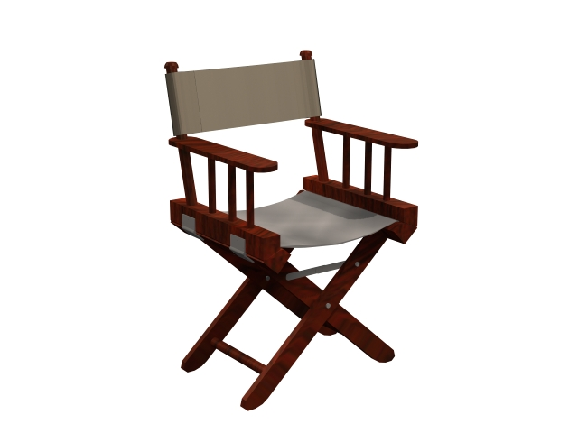 Canvas director chair 3d model 3dsmax files free download for Chair design 3ds max