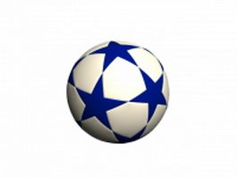 Rubber soccer ball 3d model
