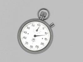Mechanical stopwatch 3d model