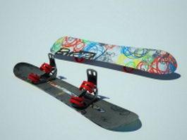 Burton Vapor snowboard 3d model