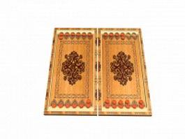 Backgammon set 3d model