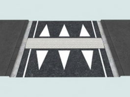 Zebra crossing 3d model