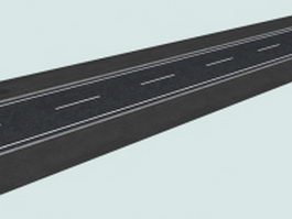 Asphalted road 3d model