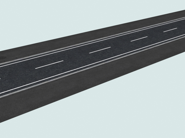 Asphalted Road 3d Model 3ds Files Free Download Modeling