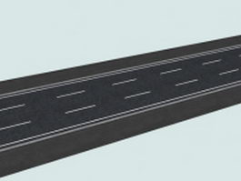 Three-lane road 3d model