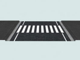 Crosswalk marking 3d model