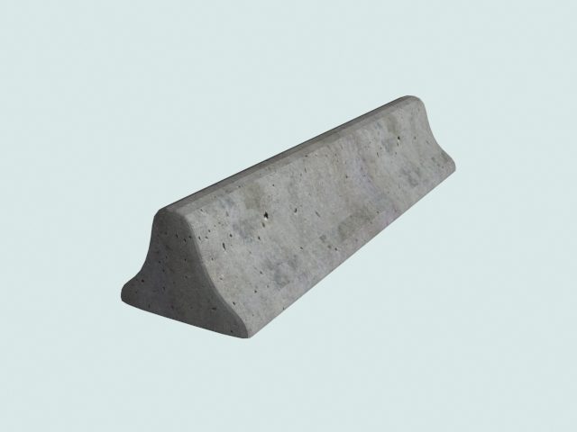 Concrete step barrier 3d model 3ds files free download - modeling