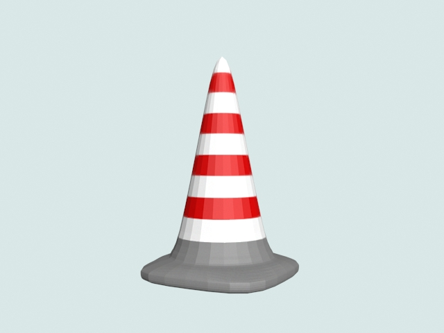 Road cone 3d model 3ds files free download - modeling 15415 on CadNav
