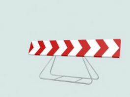 Traffic safety sign 3d model