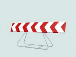 Traffic mandatory sign 3d model