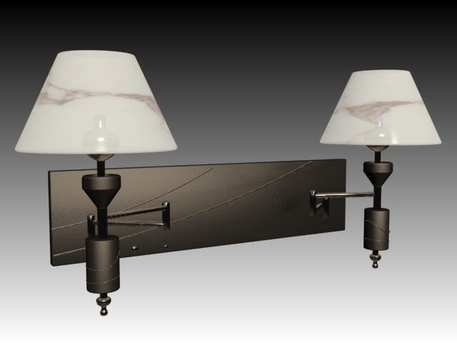 Wall Lamps 3d Model : Bedroom wall lamp 3d model 3dsMax files free download - modeling 15446 on CadNav