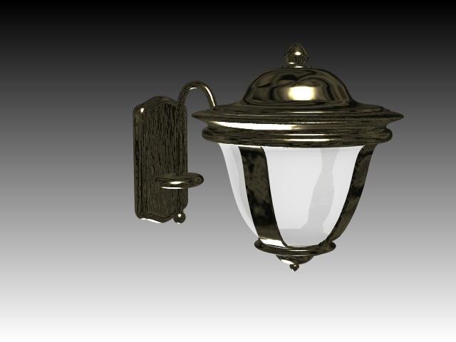 Classical brass wall light 3d model 3dsMax files free download - modeling 15447 on CadNav