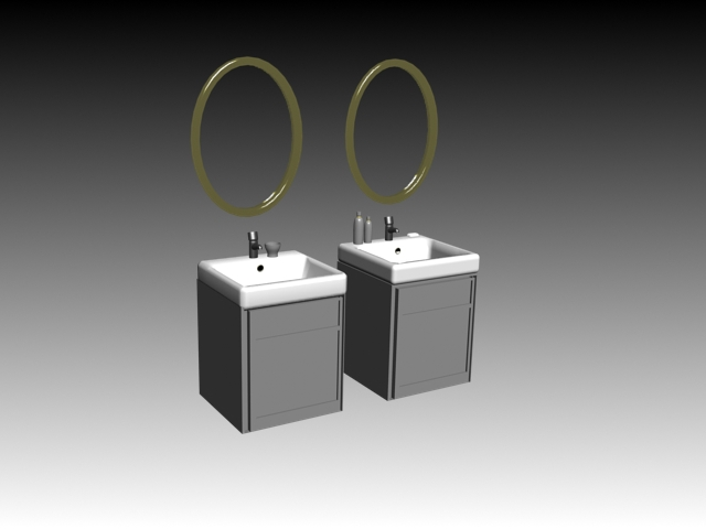 Bathroom Vanity Set 3d Model 3dsmax Files Free Download Modeling 15464 On Cadnav