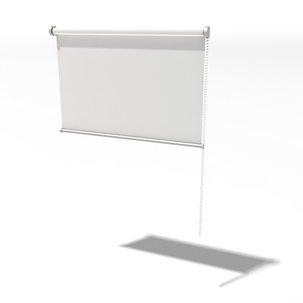 White Roll Down Curtain 3d Model 3dsmax 3ds Files Free